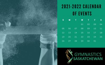 2021-2022 Gym Sask Calendar of Events