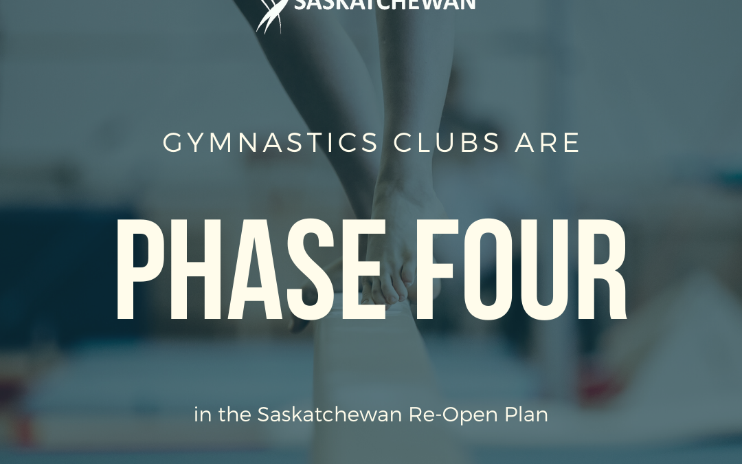 Phase 4 Re-Opening of Gymnastics in Saskatchewan