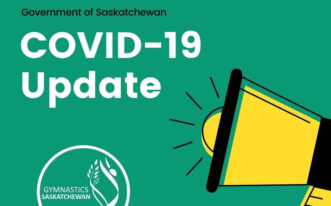 Gymnastics Saskatchewan COVID Restrictions Clarification – November 26